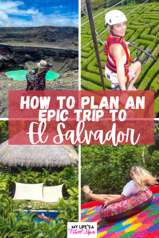 If El Salvador isn't on your radar, read this post! Find out everything from where is El Salvador, to where to find the most epic adventure activities, and affordable luxury hotels! El Salvador has become a lot safer, and is openly welcoming travelers to this small but beautiful country! #elsalvador #solotravel #traveltips