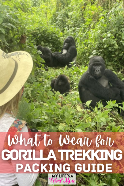 Your ultimate guide for what to wear for gorilla trekking! This complete packing list has every necessary item for mountain gorilla trekking in D.R.Congo, Uganda, and Rwanda! From Trekking pants, books, and hiking sticks, to my most highly recommended camera gear for capturing photos and videos of the beautiful mountain gorillas! If mountain gorilla trekking is on your bucketlist, check out my other guides and posts as well! #mountaingorillas #gorillatrekking #bucketlist #bucketlistideas #packingguide #solotravel #drcongo #uganda #rwanda